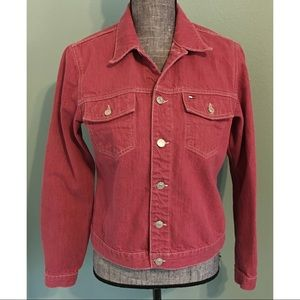 Tommy Hilfiger Red Jean Jacket Denim M Classic